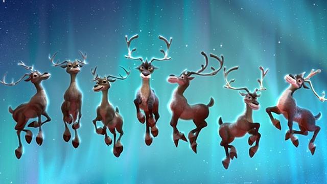 12 reindeer santa