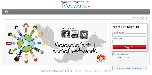 1malaysia laman sosial malaysia yang popular satu ketika dahulu