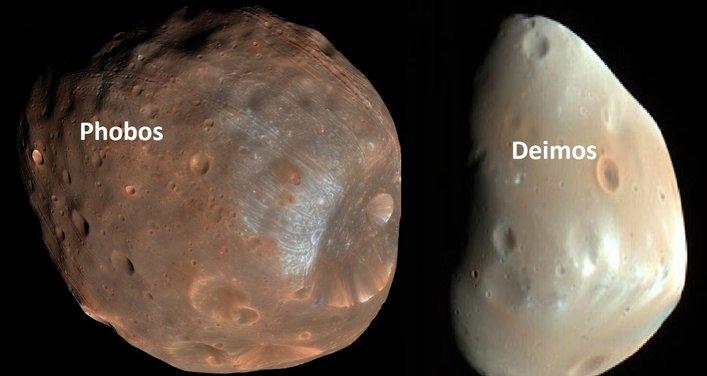 2 unit bulan di marikh iaitu phobos dan deimos