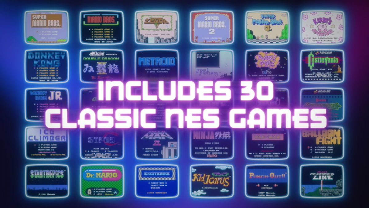 30 games nes classic edition