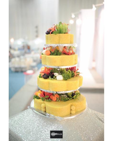 4 biji kek 4 tingkat pulut kuning untuk ulangtahun kelahiran ketiga lara alana 2