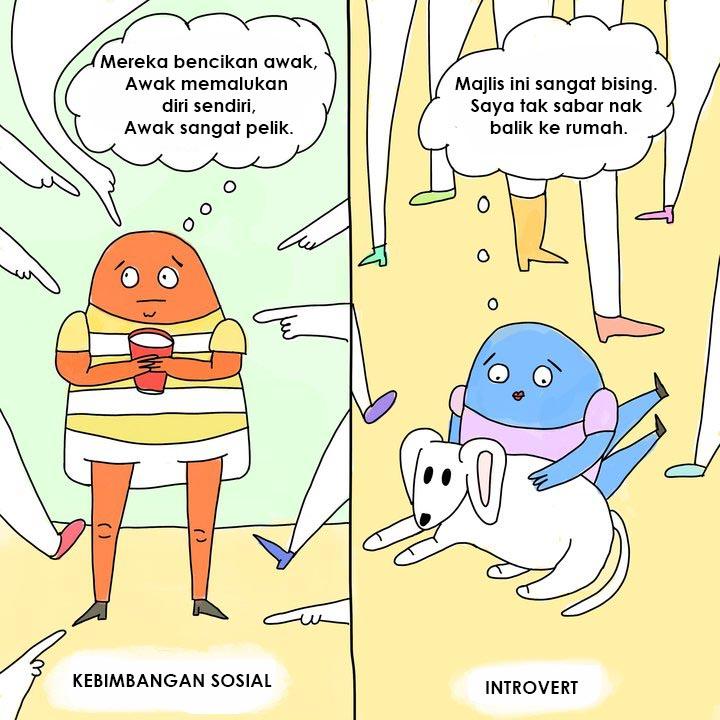 4 perbezaan antara individu introvert dan social anxiety 1