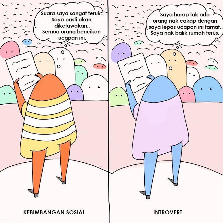 4 perbezaan antara individu introvert dan social anxiety 4