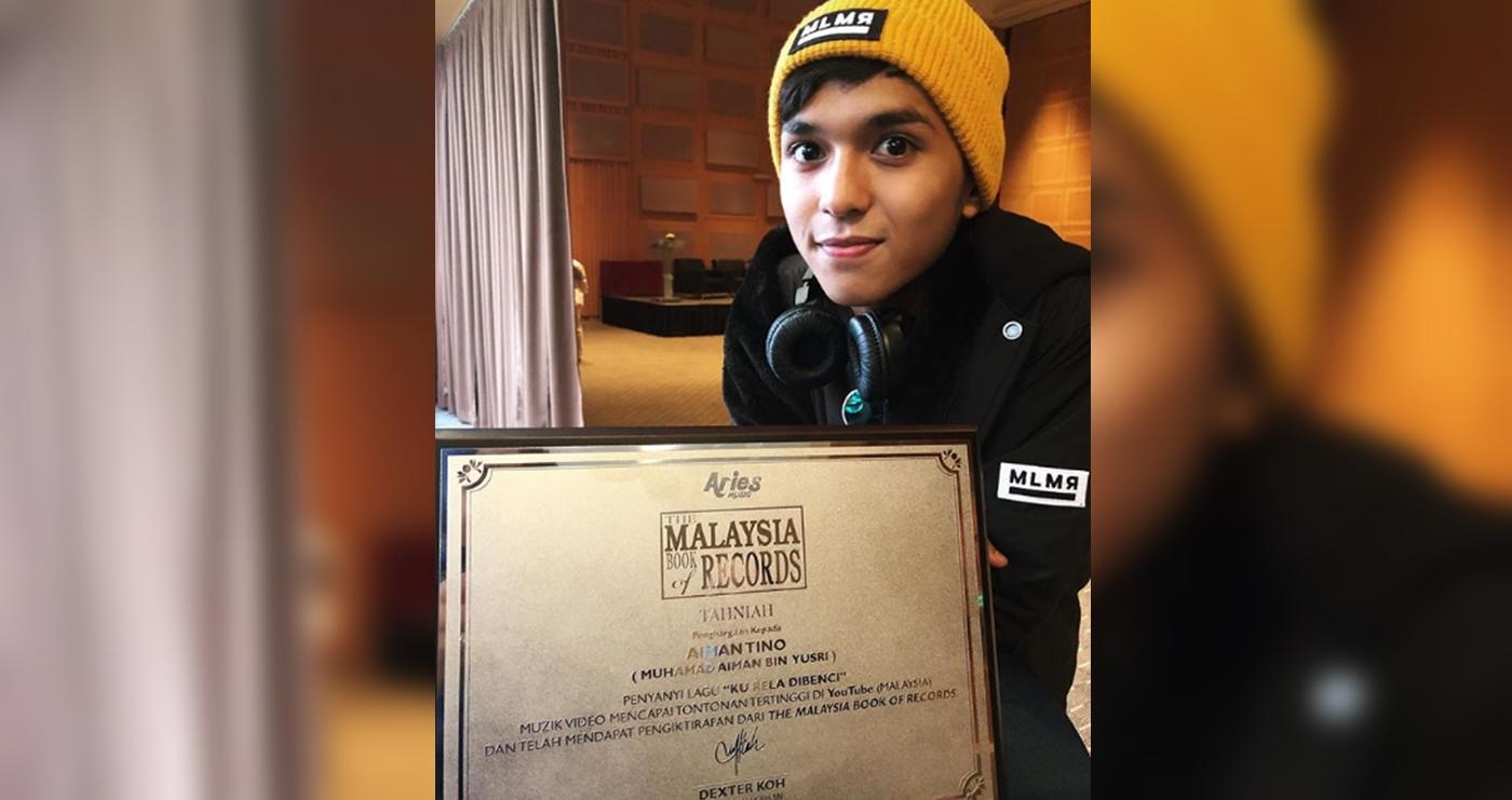 aiman tino diiktiraf malaysia book of records 1