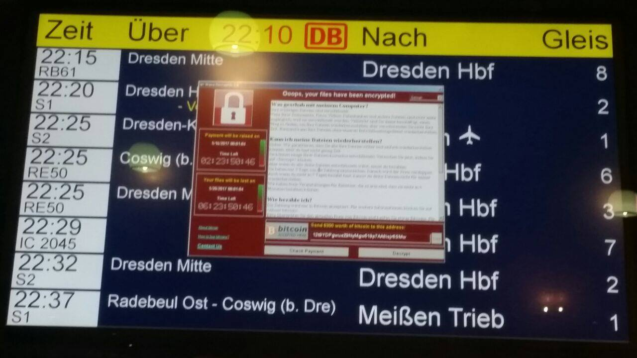 airport wannacry
