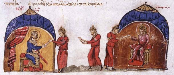 al ma mun menghantar rombongan ke byzantine