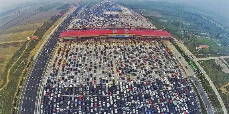 aliran trafik padat beijing