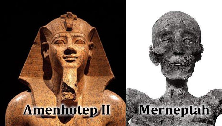 amenhotep ii dan merneptah