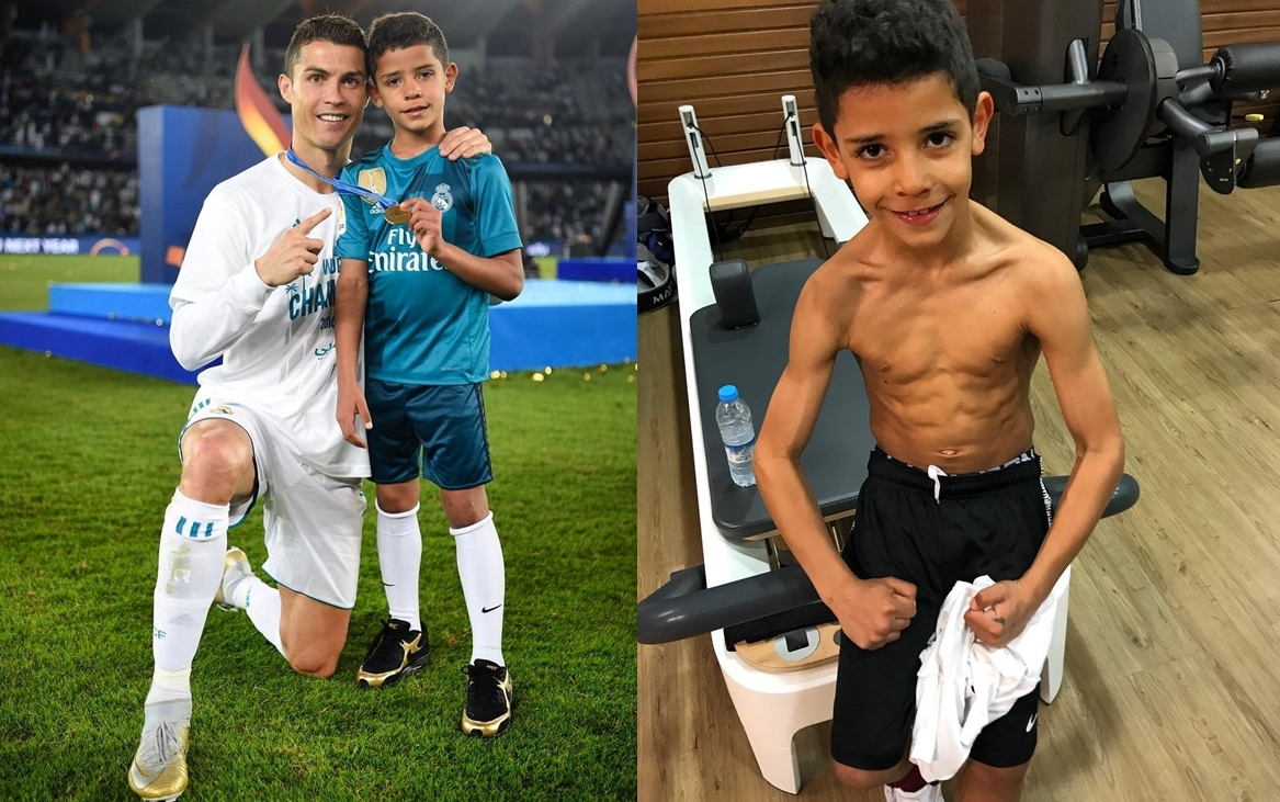 anak cristiano ronaldo berusia 7 tahun tayang badan 1
