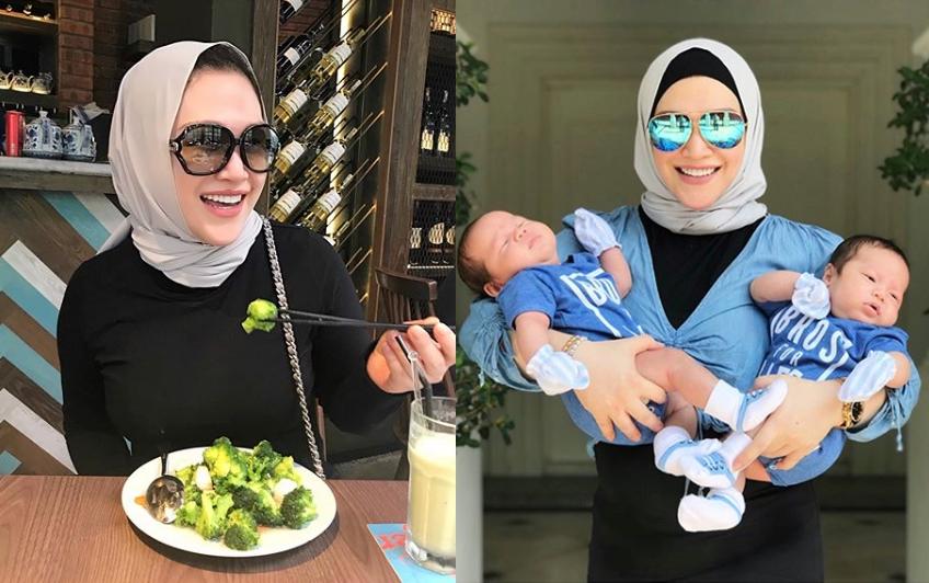 anak kembar zizie izette curi perhatian netizen