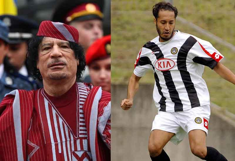 anak muammar gaddafi pemain bola sepak seria a itali