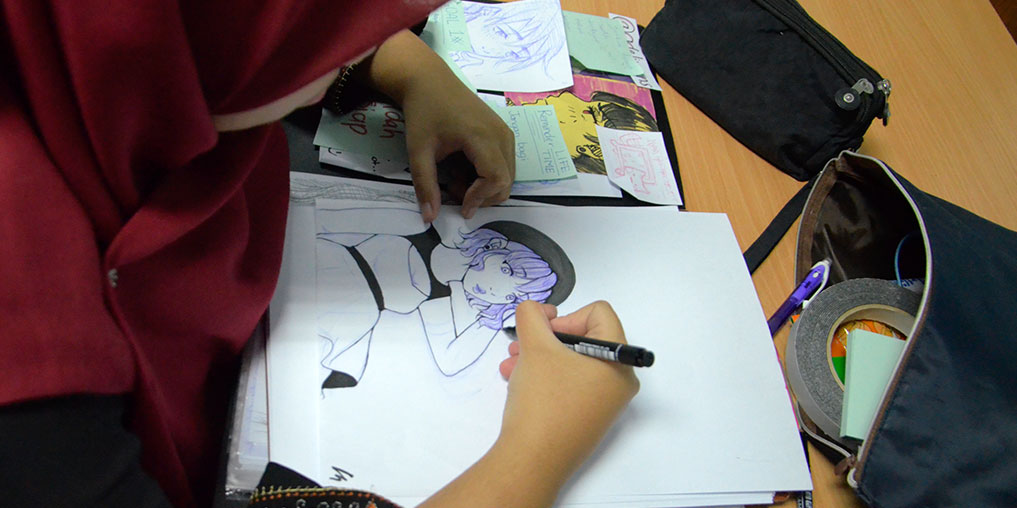 animator lukis panel
