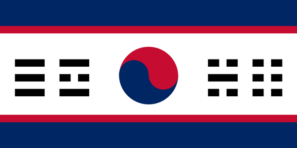 antara contoh bendera korea bersatu