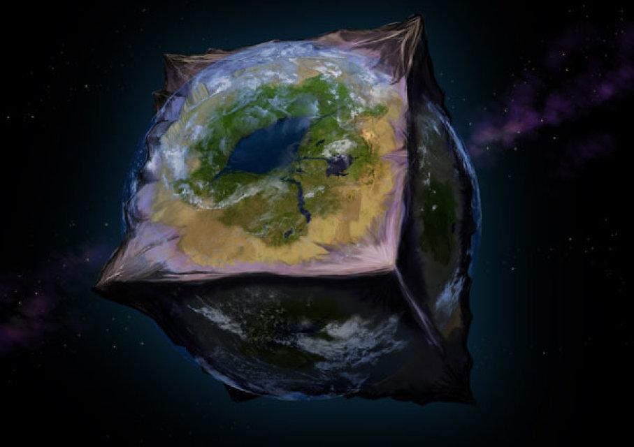 apa akan berlaku kepada kehidupan manusia jika bumi berbentuk kiub