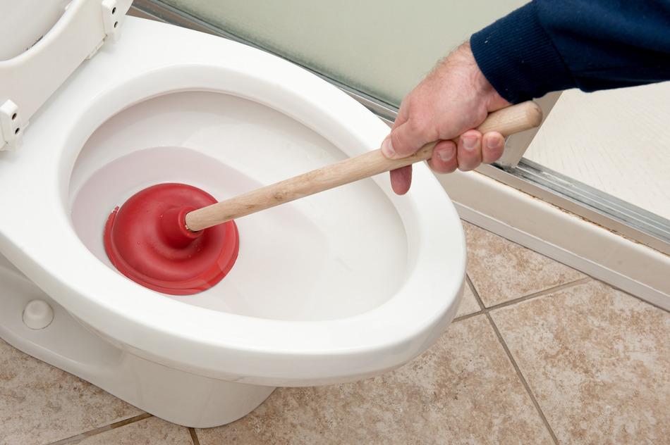 apabila tandas tersumbat