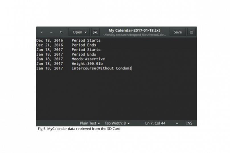 aplikasi mycalendar data yang disimpan dalam kad memori sd