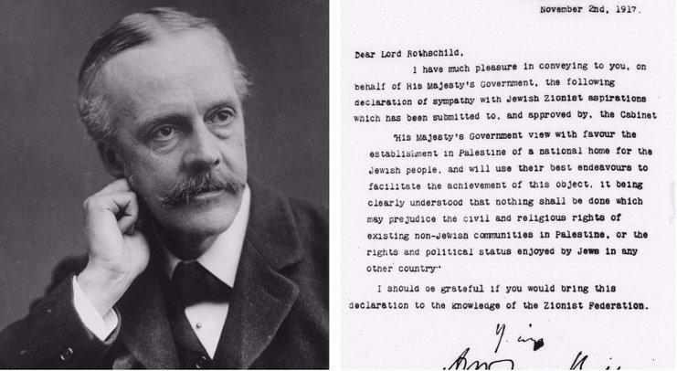 arthur james balfour dan deklarasi balfour