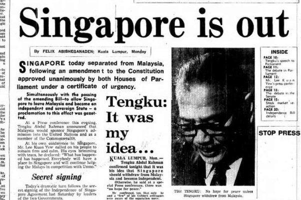 artikel pengumuman keluar singapura dari malaysia
