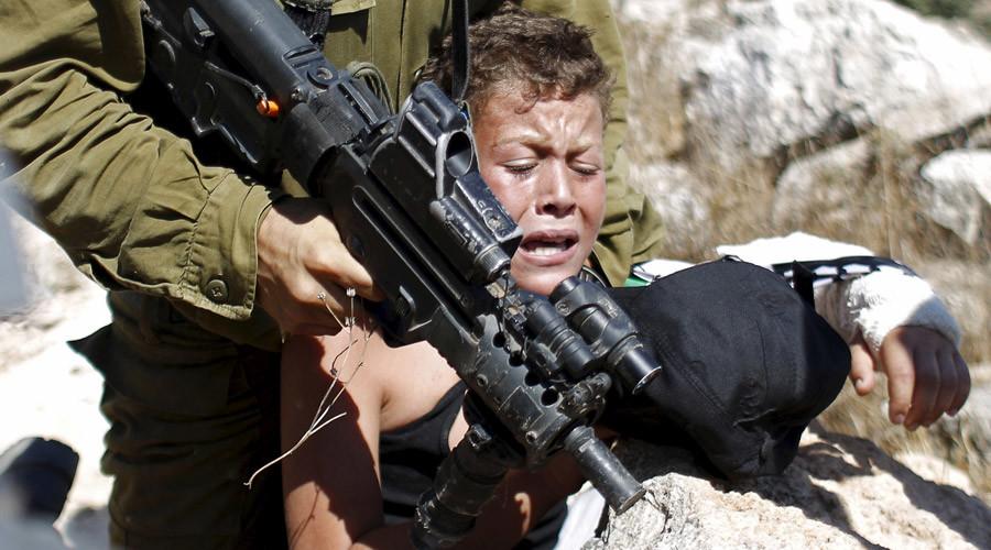 askar israel menyerang kanak kanak palestin