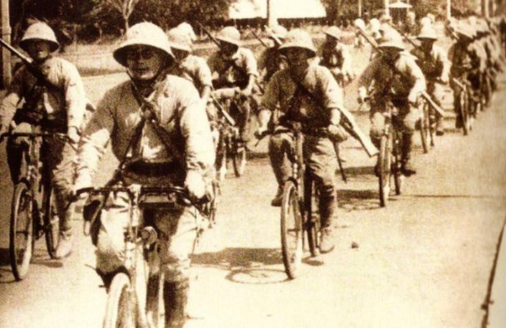 askar jepun berbasikal ketika perang dunia kedua