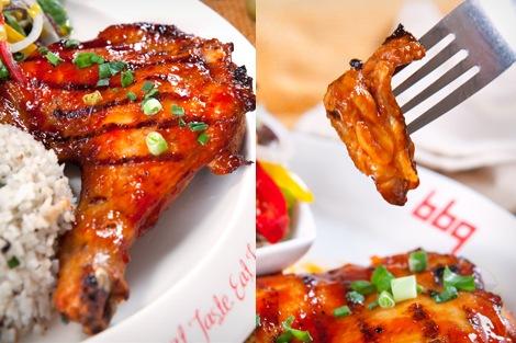 ayam drumstick berkilat kilat menambat hati di bbq chicken restoran korea halal