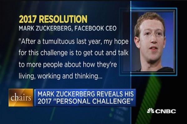 azam tahun baru 2017 mark zuckerberg untuk lebih berhubung dengan manusia