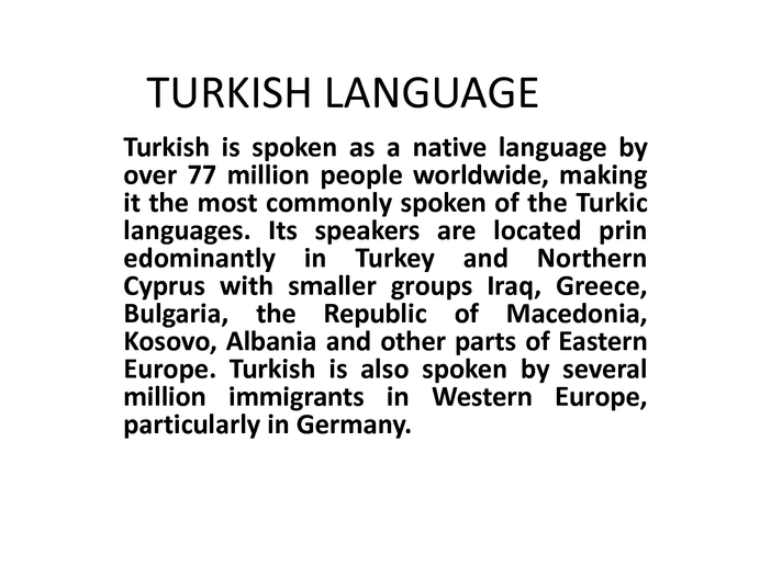 bahasa turkish menggantikan bahasa arab