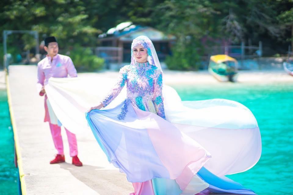 baju pengantin paddle pop jadi bualan hangat para netizen 1