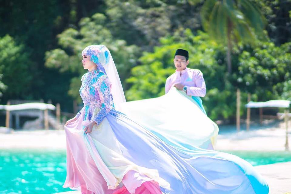 baju pengantin paddle pop jadi bualan hangat para netizen 2