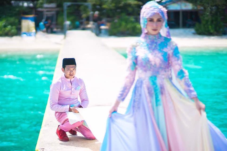 baju pengantin paddle pop jadi bualan hangat para netizen 5