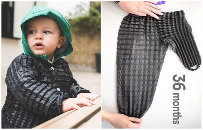 baju petit pli yang boleh dipakai seawal usia 4 bulan sehingga 36 bulan