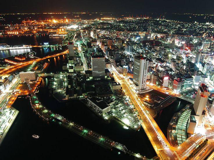 bandar hiroshima pada waktu malam 625