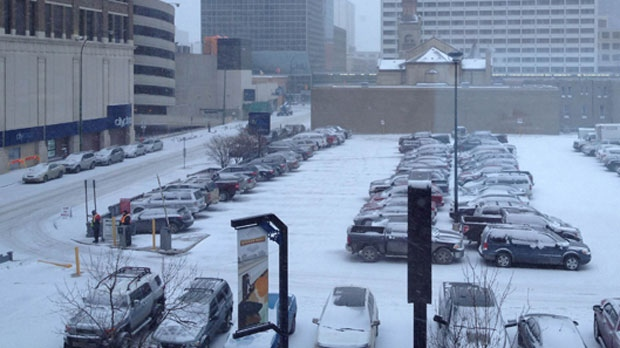 bandar penuh salji