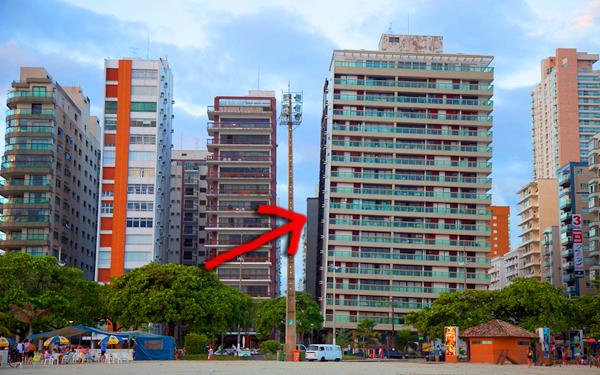 bangunan condong di santos brazil