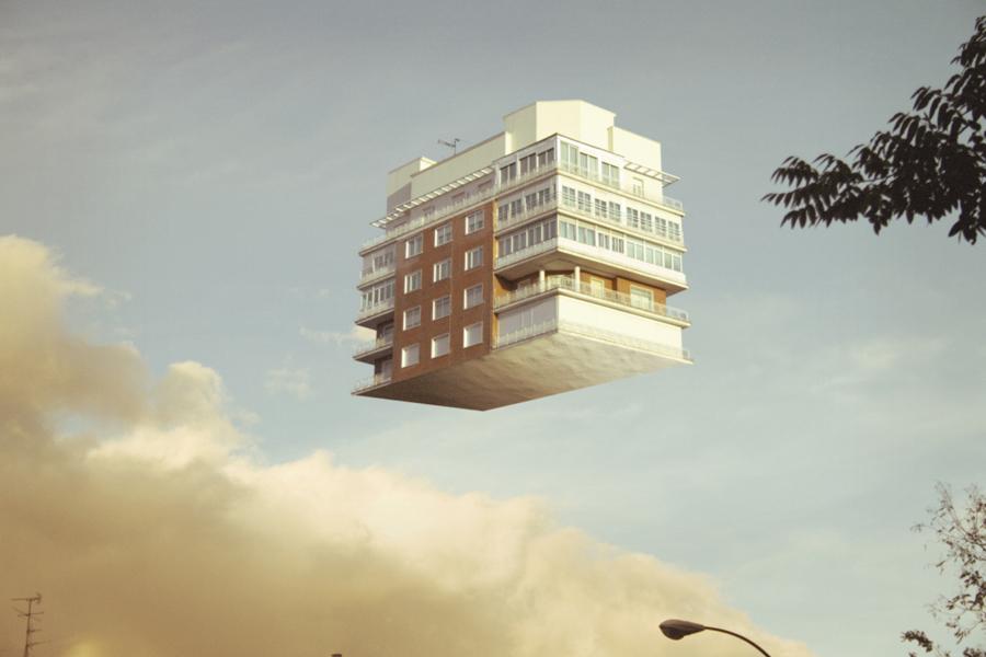 bangunan terapung tanpa graviti