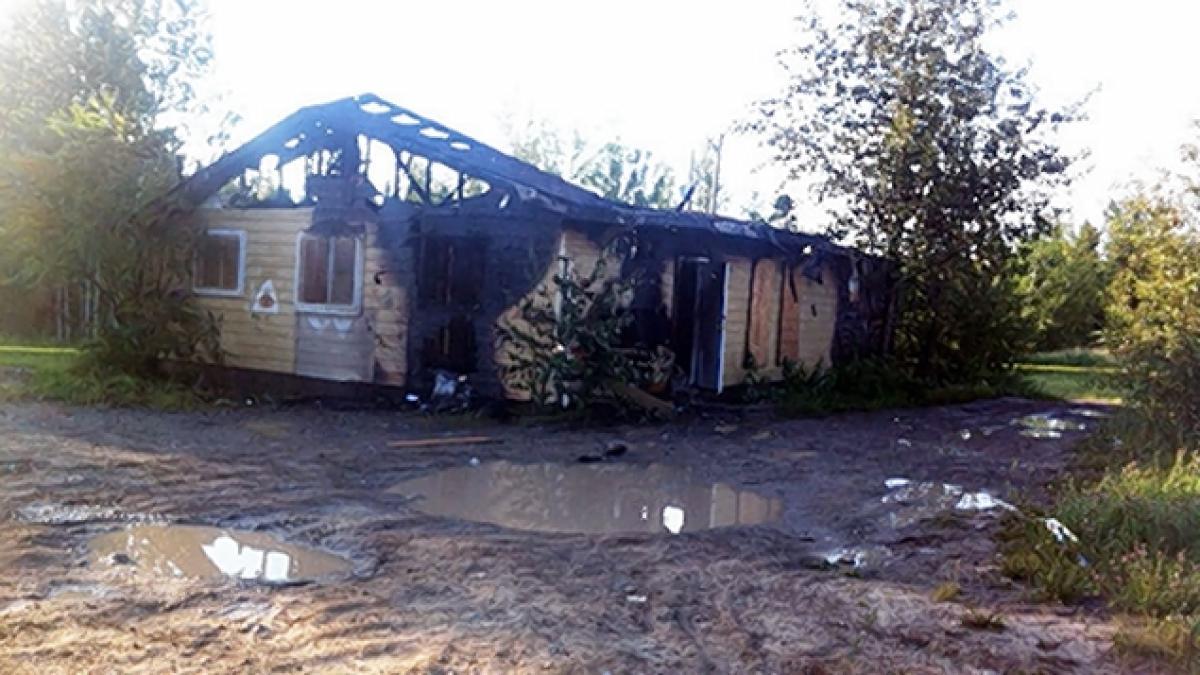 bangunan yang dibakar