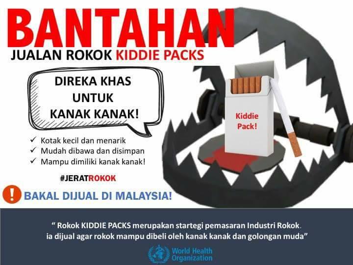 bantahan jualan rokok kiddie pack