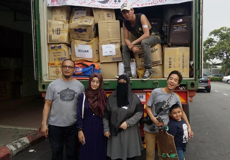 bantuan aid container malaysia syria