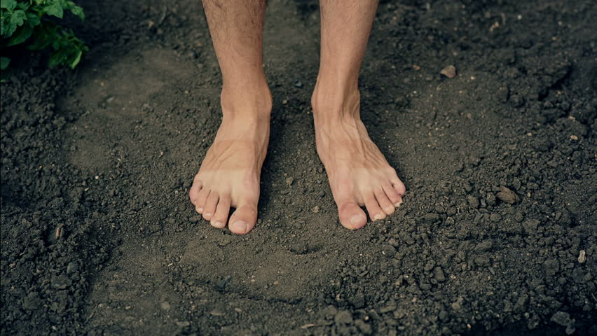 barefooted