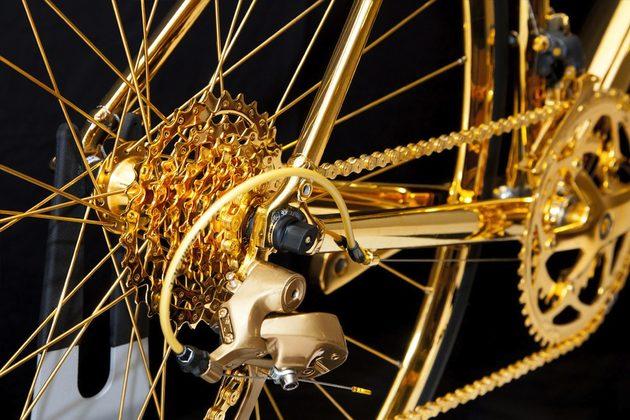 basikal emas 7 item pelik yang dihasilkan dan disalut emas 2