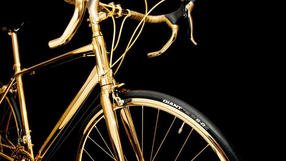 basikal emas 7 item pelik yang dihasilkan dan disalut emas 3