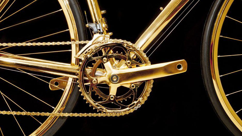 basikal emas 7 item pelik yang dihasilkan dan disalut emas 5