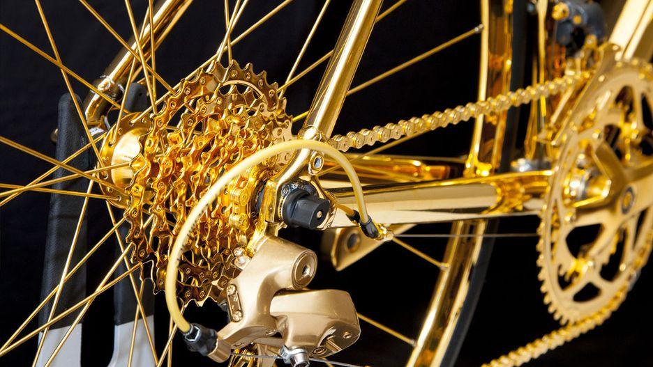 basikal emas 7 item pelik yang dihasilkan dan disalut emas 8