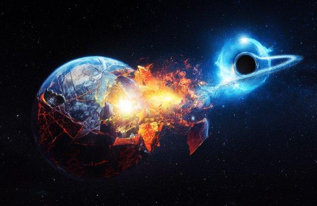 bayangkan sekiranya bumi disedut masuk ke dalam black hole