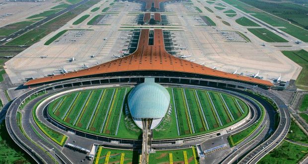 beijing capital international airport terminal 3 bangunan paling besar di dunia
