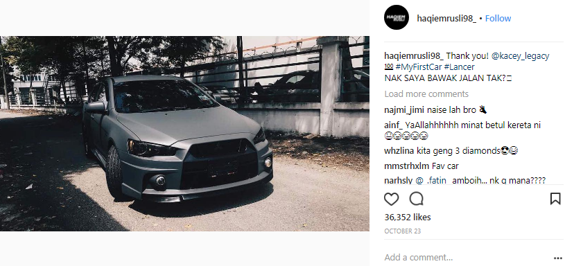 beli kereta secara tunai lain pula kenyataan dari mulut haqiem rusli 2