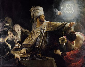 belshazzar writing on the wall