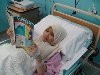 beri bahan bacaan untuk pesakit