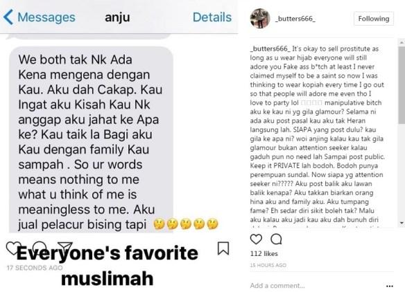 berperang di instagram bekas suami dedah rahsia mengejutkan zarina anjoulie 2