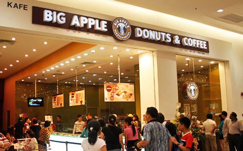 big apple donut and coffee